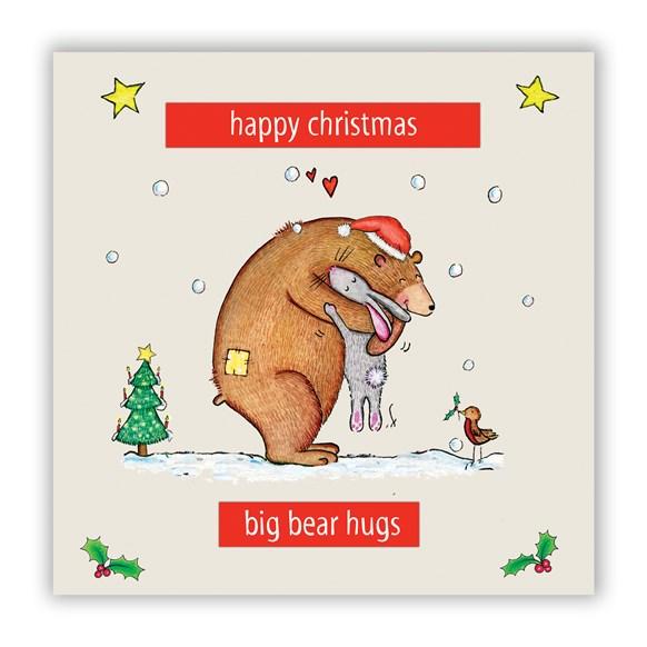 Bear Hugs Christmas Card