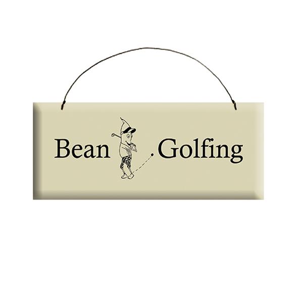Bean Golfing Sign