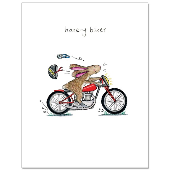 Hare-y Bikers Greeting Card