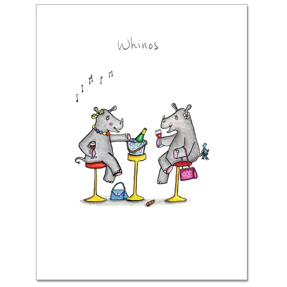 Whinos Greeting Card