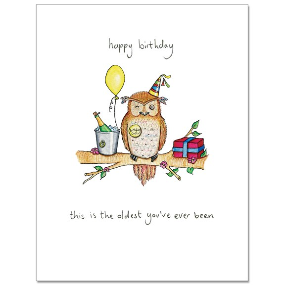 Oldest Owl Greeting Card