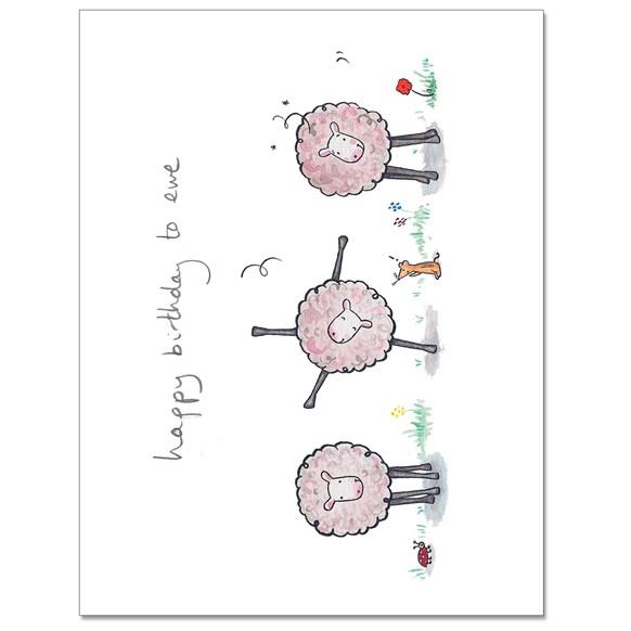 Birthday Ewe 2 Greeting Card