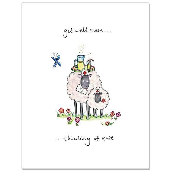 Get Well Soon Ewe Greeting Card