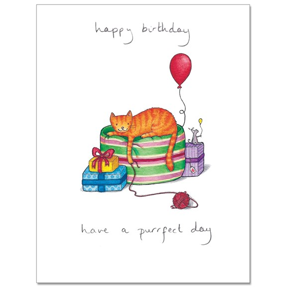 Purrfect 2 Greeting Card