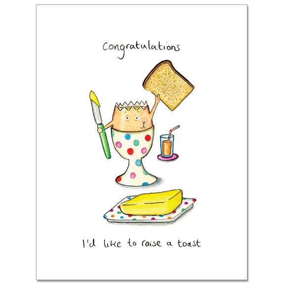Raise a Toast Greeting Card