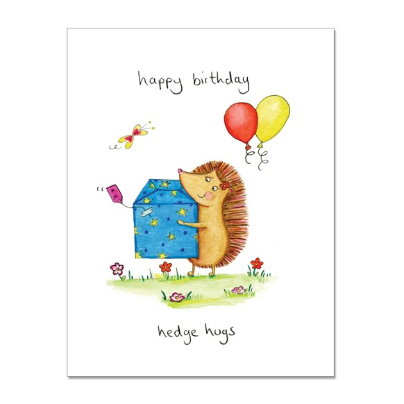 Birthday Hedge Hugs Greeting Card