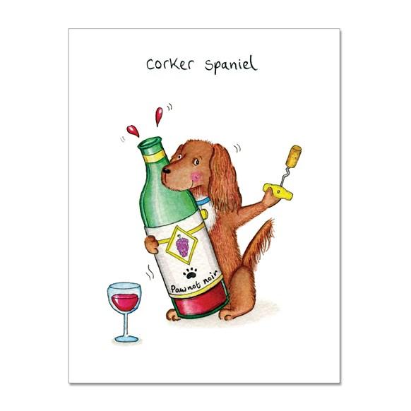Corker Spaniel Greeting Card