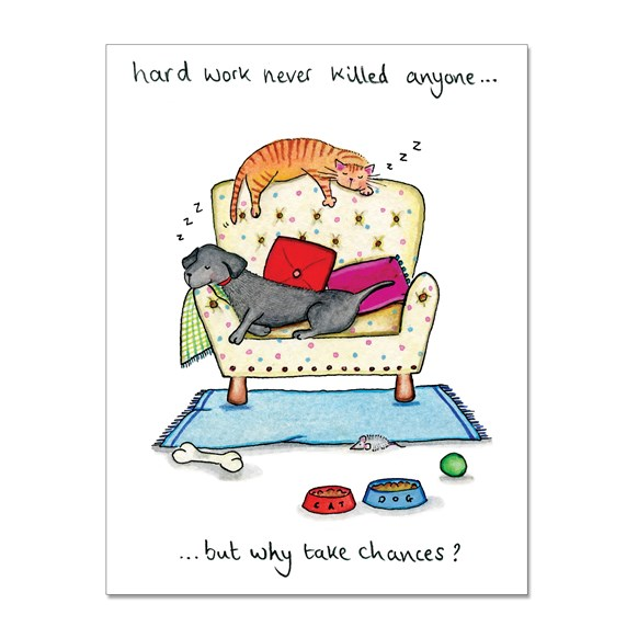 Hard Work Greeting Card