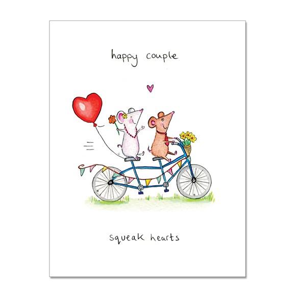 Squeak Hearts Greeting Card