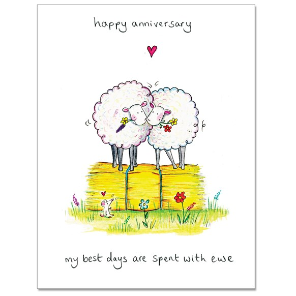 Spent with Ewe Greeting Card