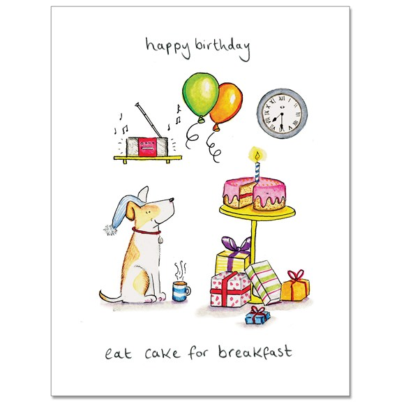 Cake For breakfast Greeting Card
