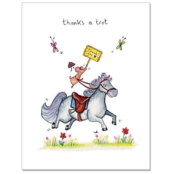 Thanks a Trot Greeting Card