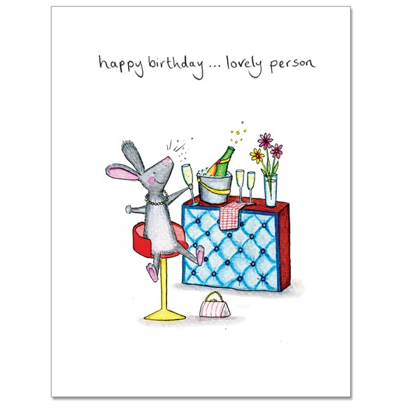 Lovely Person Greeting Card