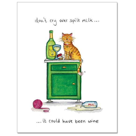 Spilt Milk Greeting Card