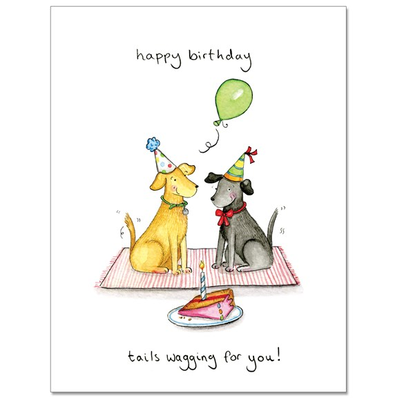 Tails Wagging Greeting Card