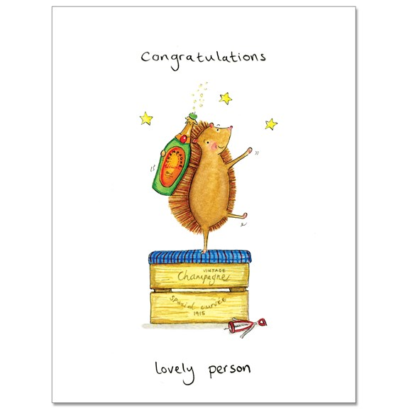 Congrats Lovely Person Greeting Card