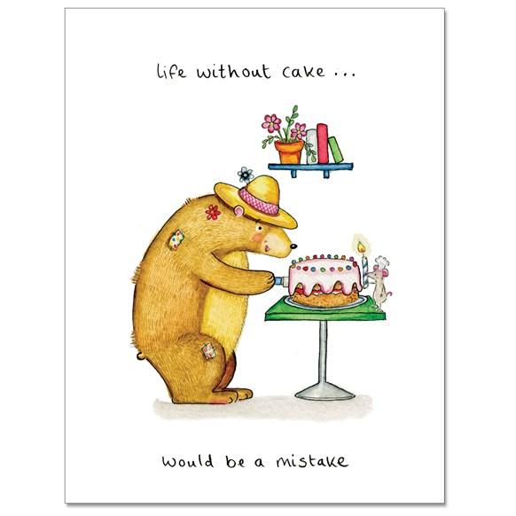 Cake Mistake Greeting Card