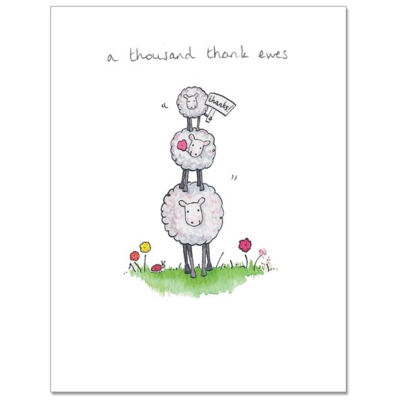 Thank Ewes Greeting Card
