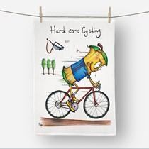 Hard Core Cycling Tea Towel