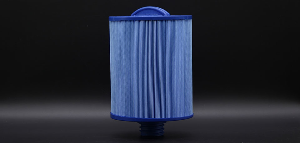 Wellis Spa Filter - AKU0135 - Antimicrobial Blue (Coarse Thread)