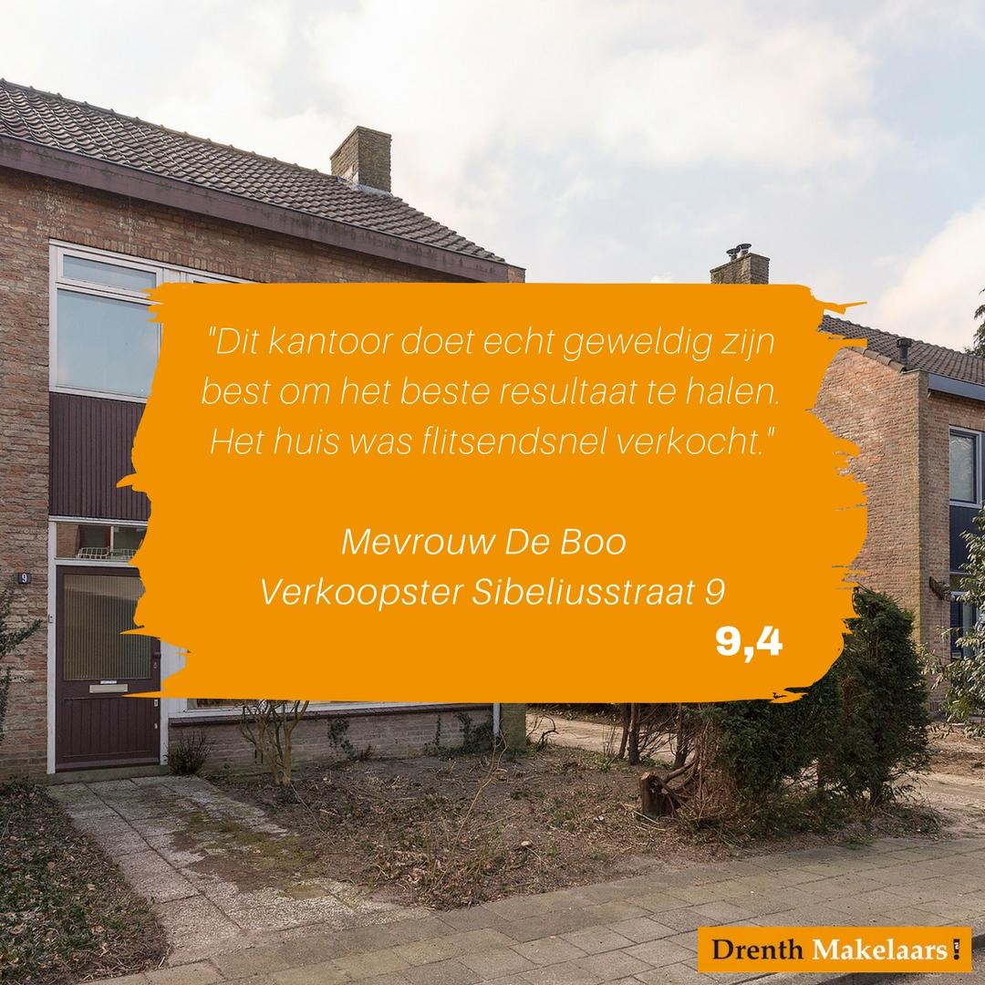 review Mevrouw De Boo - Sibeliusstraat 9
