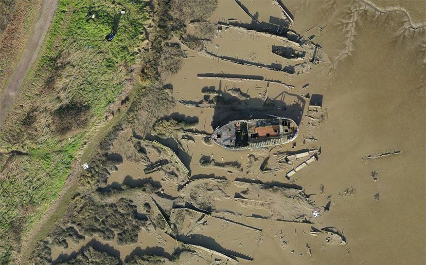 Maldon-Barge-Graveyard-drone-survey