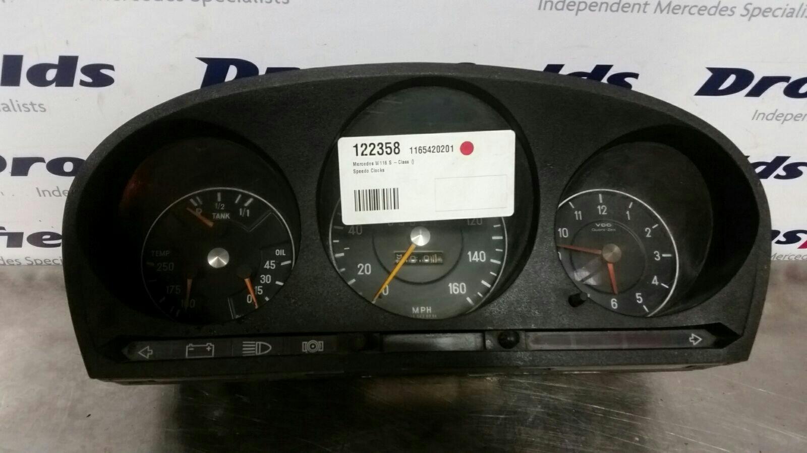 View Auto part Speedometer Mercedes S Class 1980