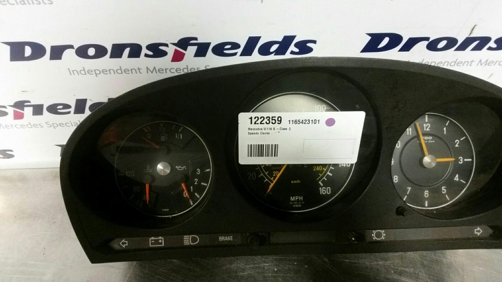 View Auto part Speedometer Mercedes S Class 1980