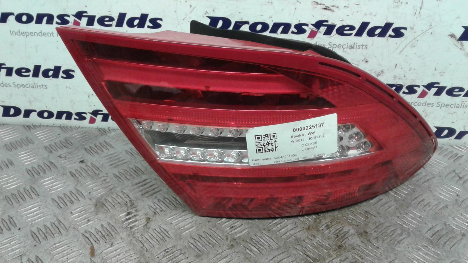 View Auto part L Taillight Mercedes C Class 2012