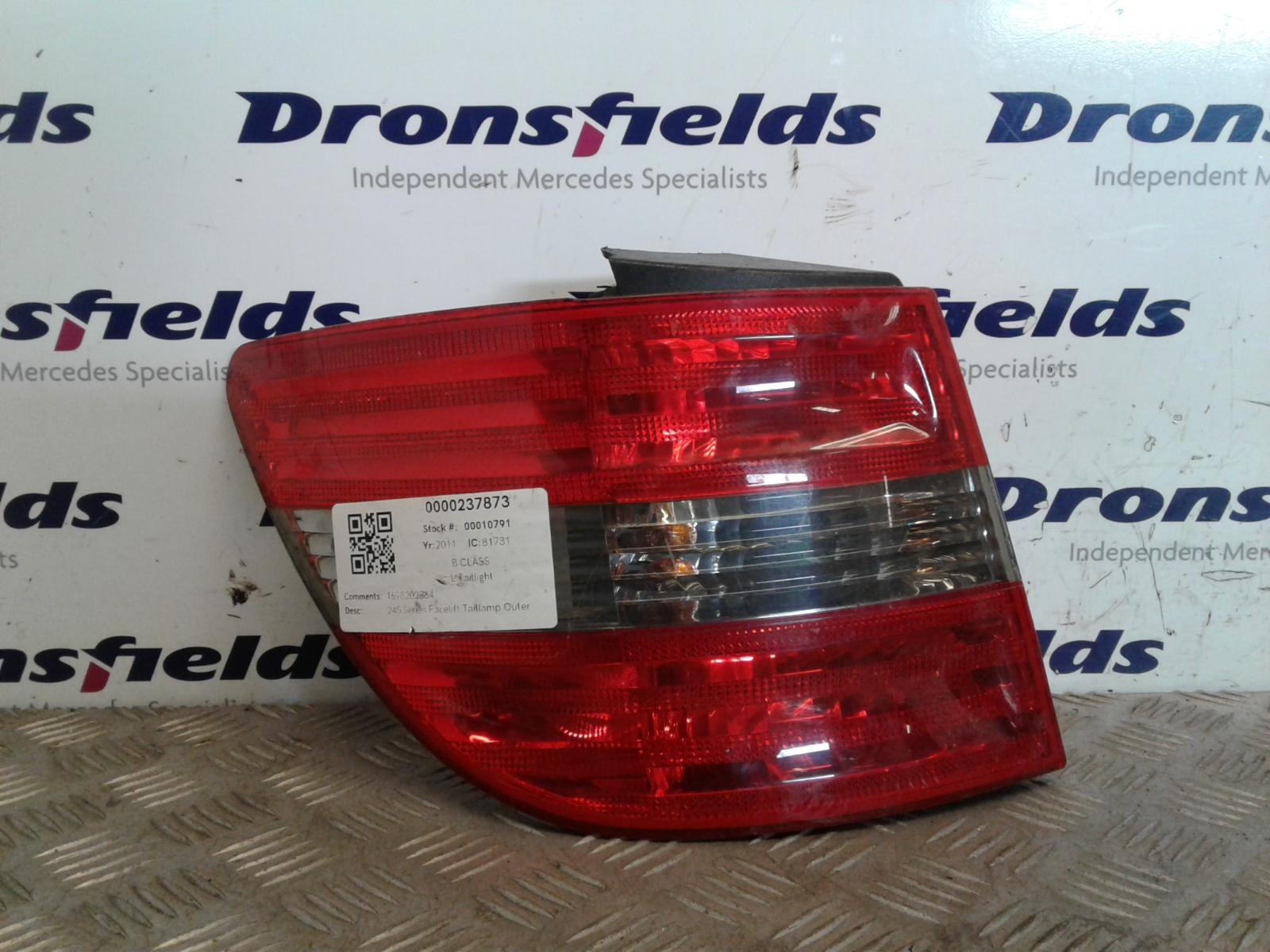 View Auto part L Taillight Mercedes B Class 2011
