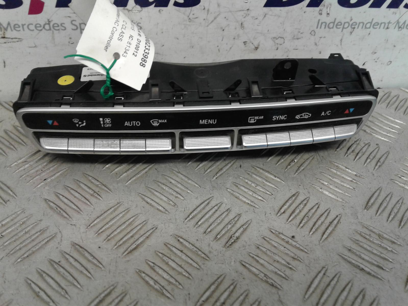 View Auto part Heater/AC Controller Mercedes C Class 2015