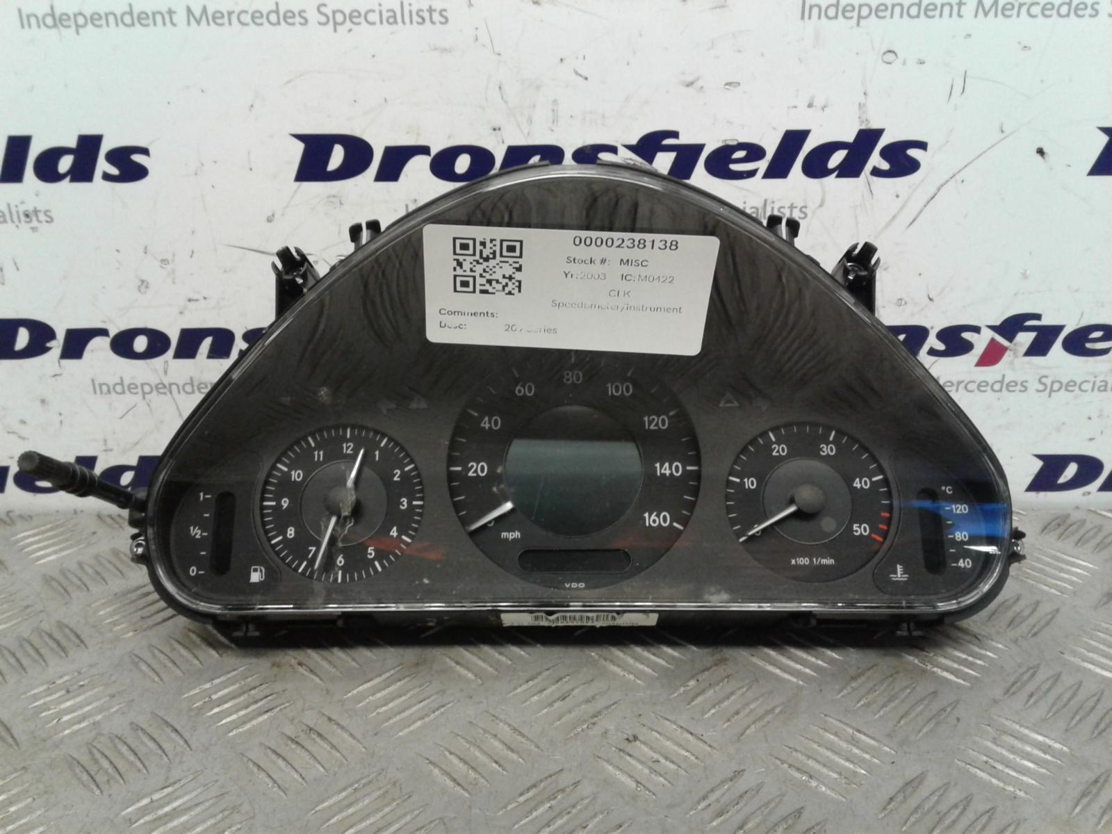 View Auto part Speedometer Mercedes Clk 2003