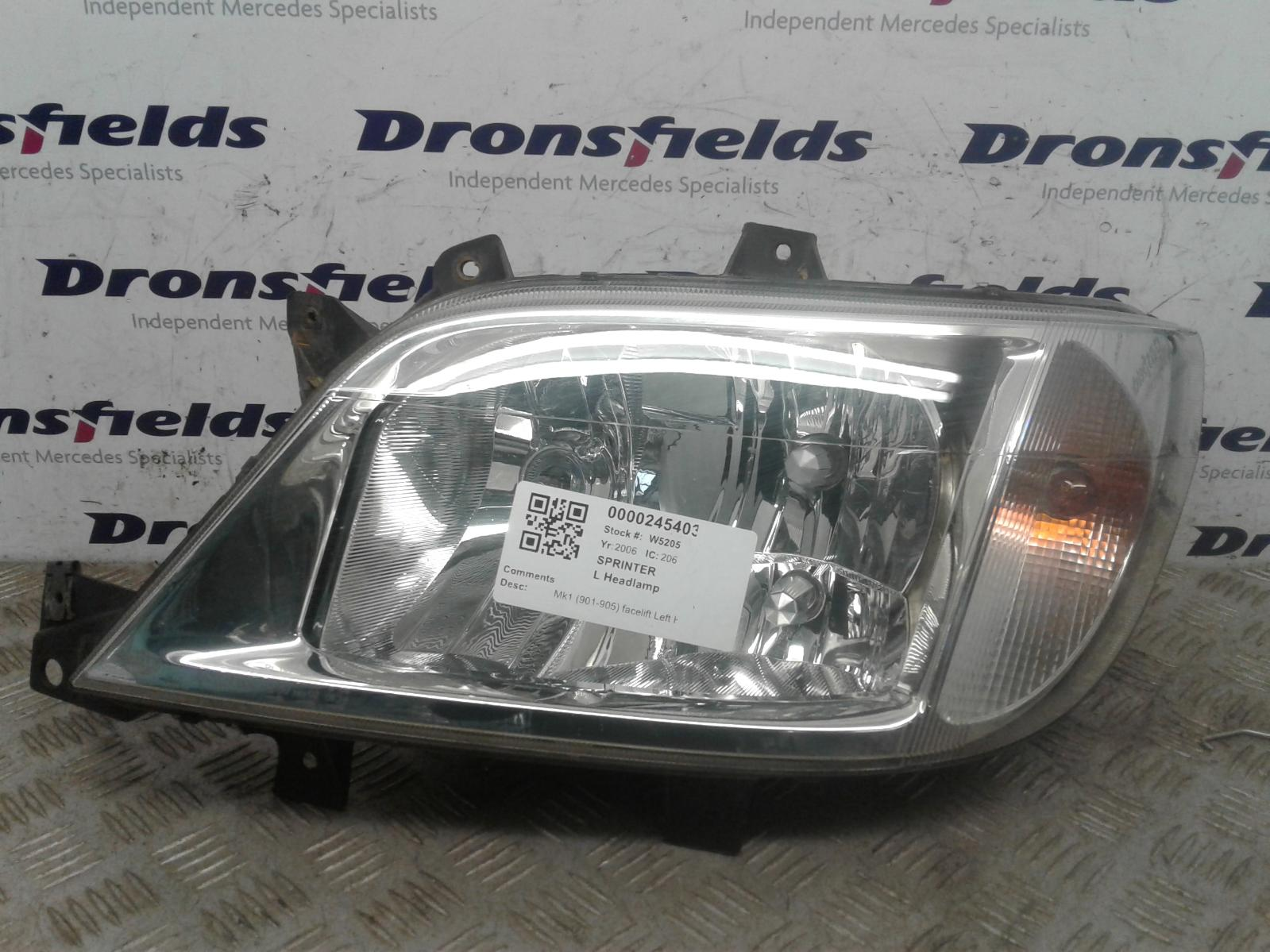 View Auto part L Headlamp Mercedes Sprinter 2006
