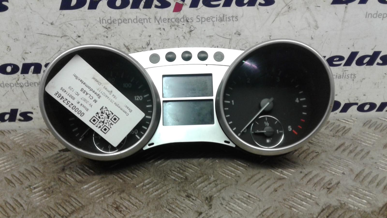 View Auto part Speedometer Mercedes M Class 2007