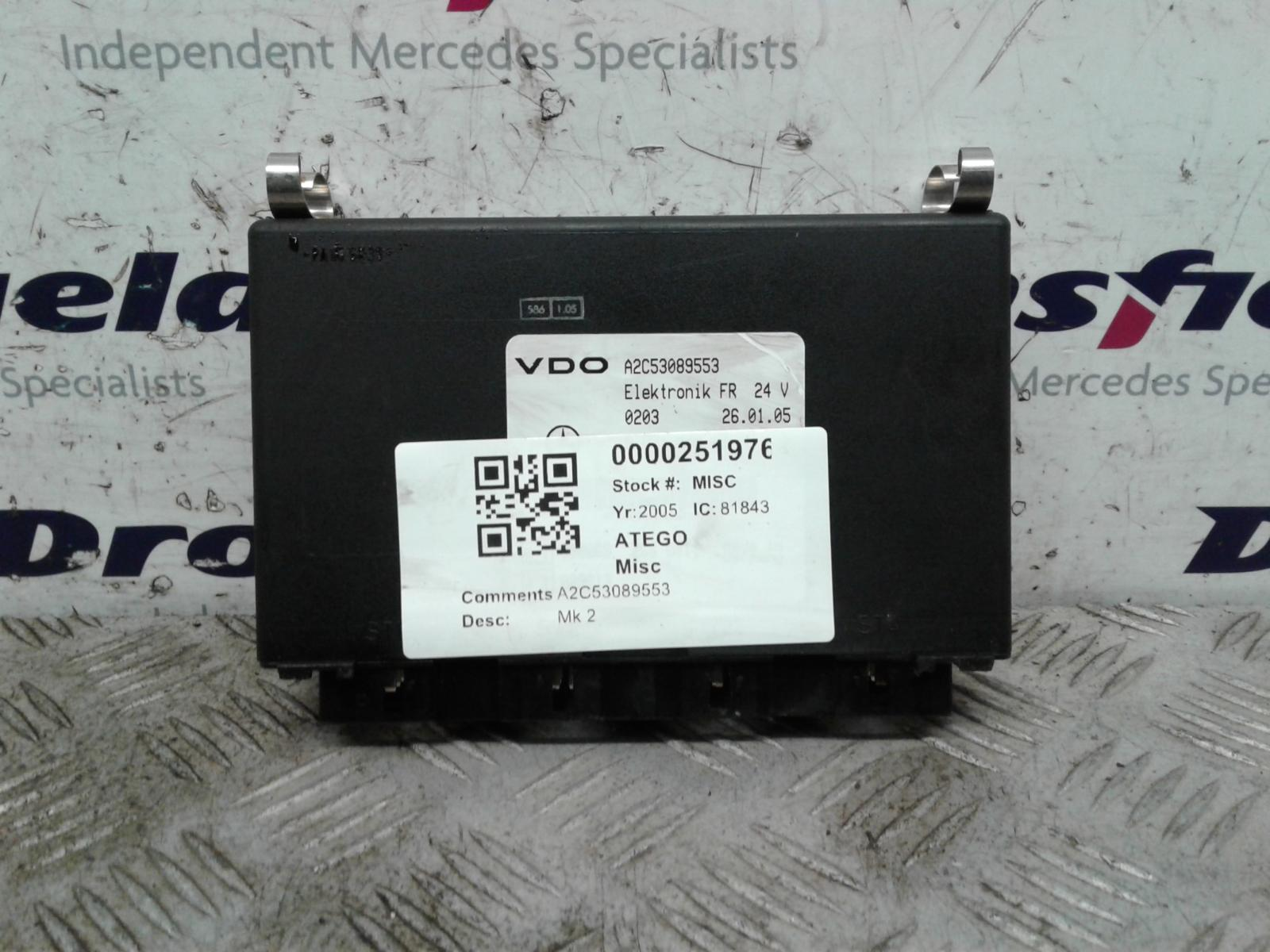 View Auto part Misc Mercedes Atego 2006