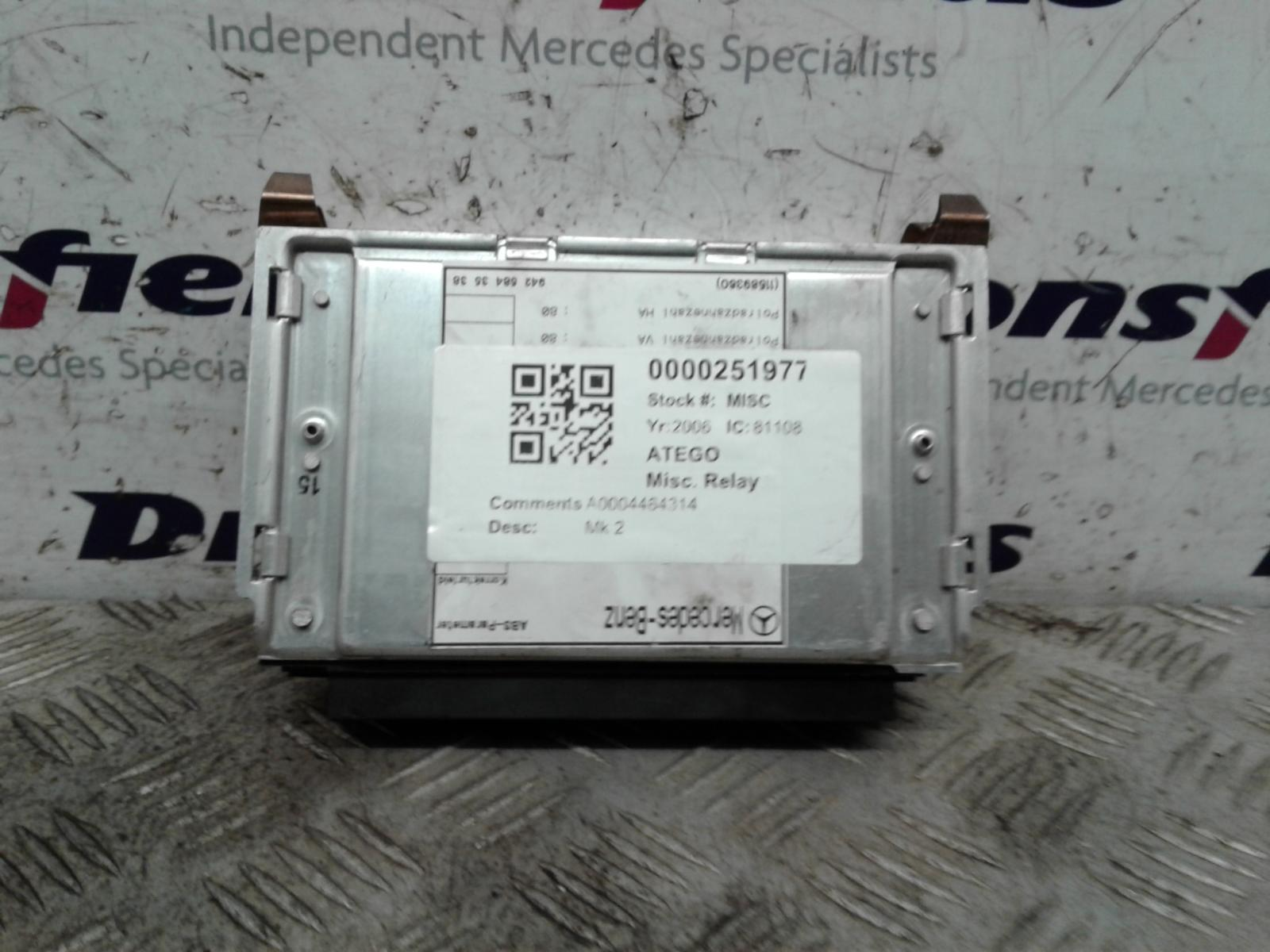 View Auto part Misc. Relay Mercedes Atego 2006