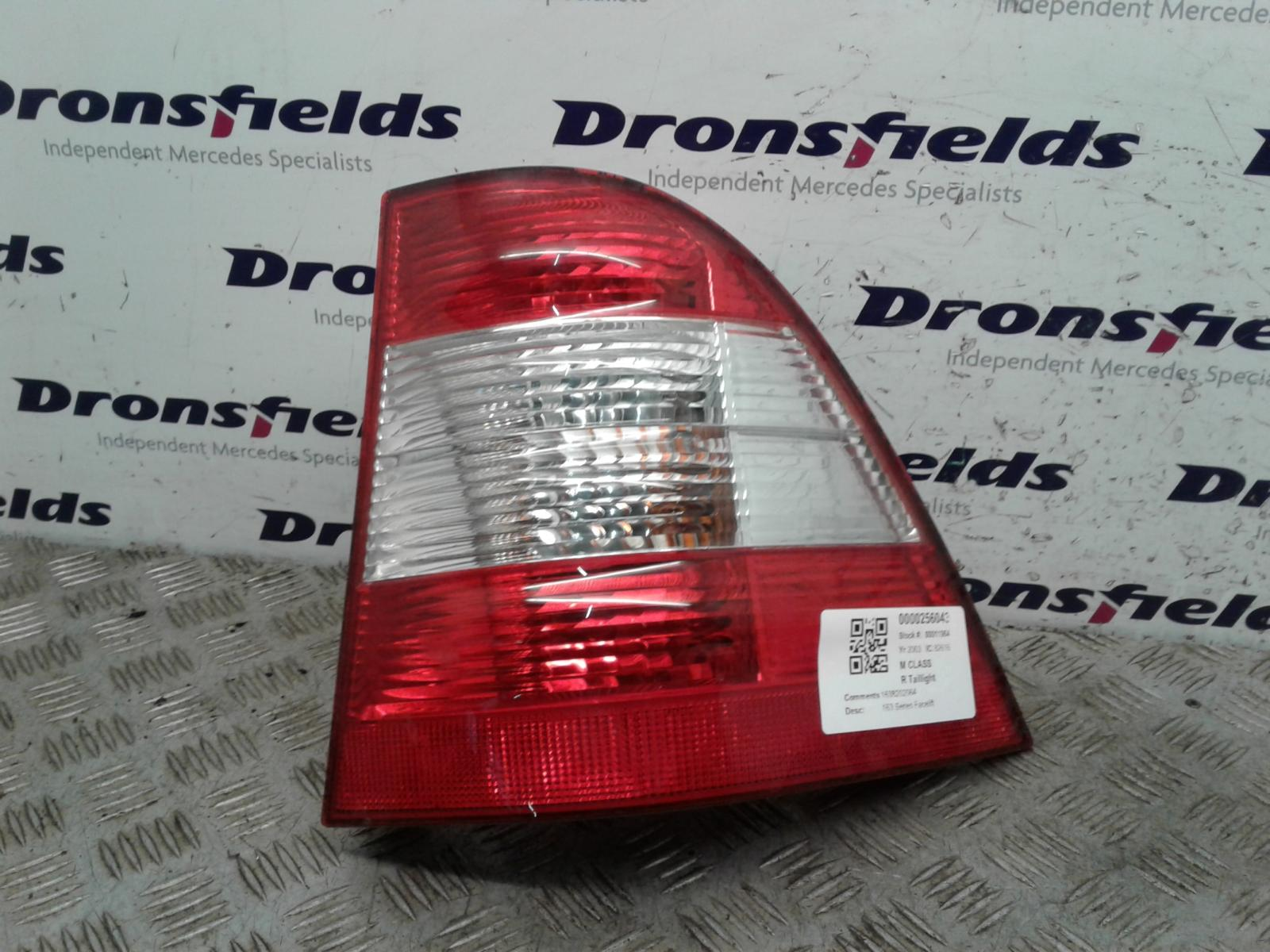 View Auto part R Taillight Mercedes M Class 2003