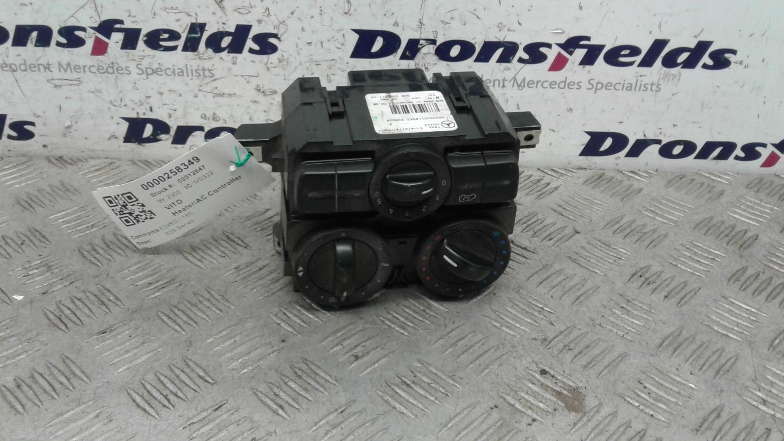 View Auto part Heater/AC Controller Mercedes Vito 2008