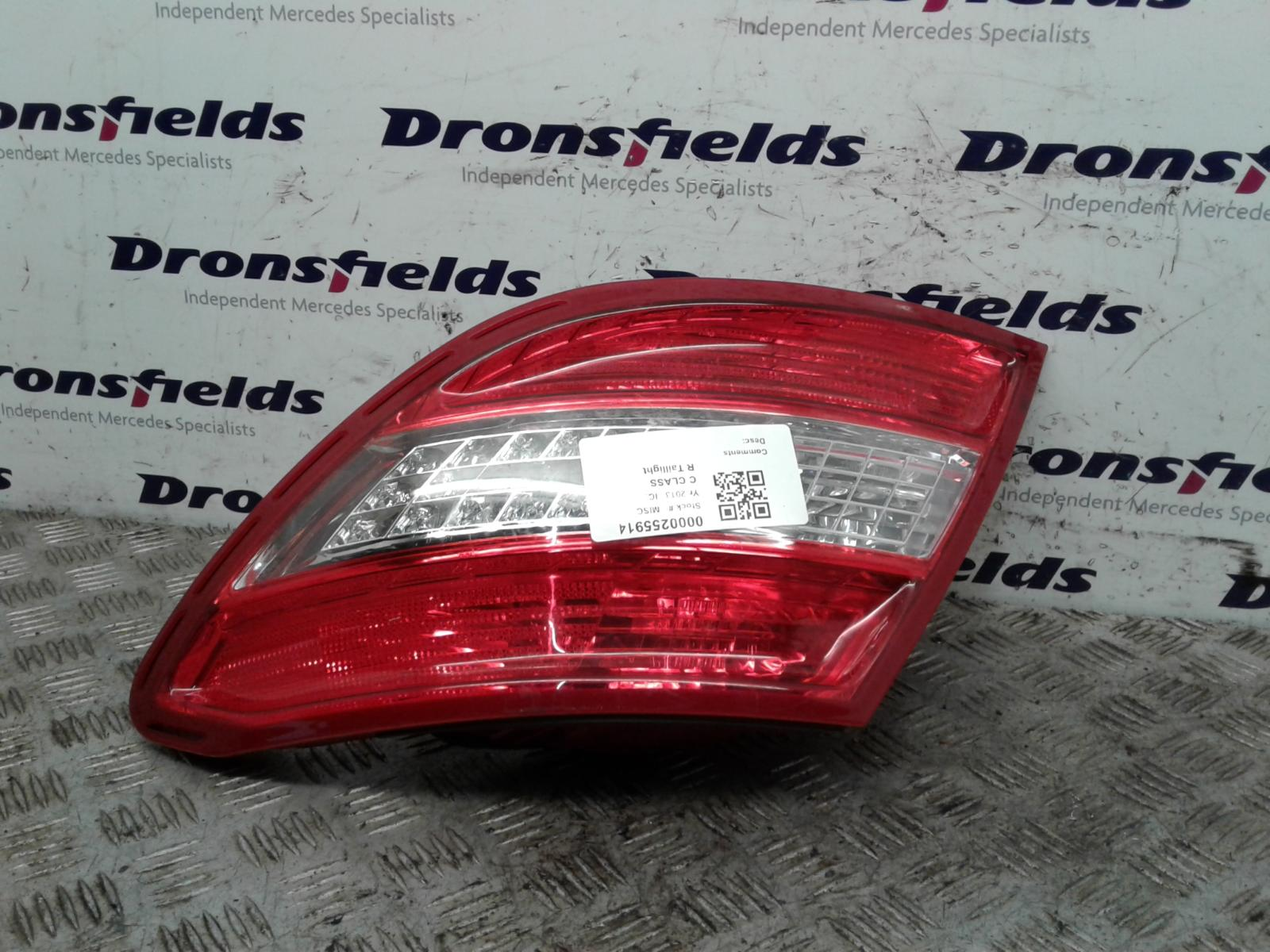 View Auto part R Taillight Mercedes C Class 2011