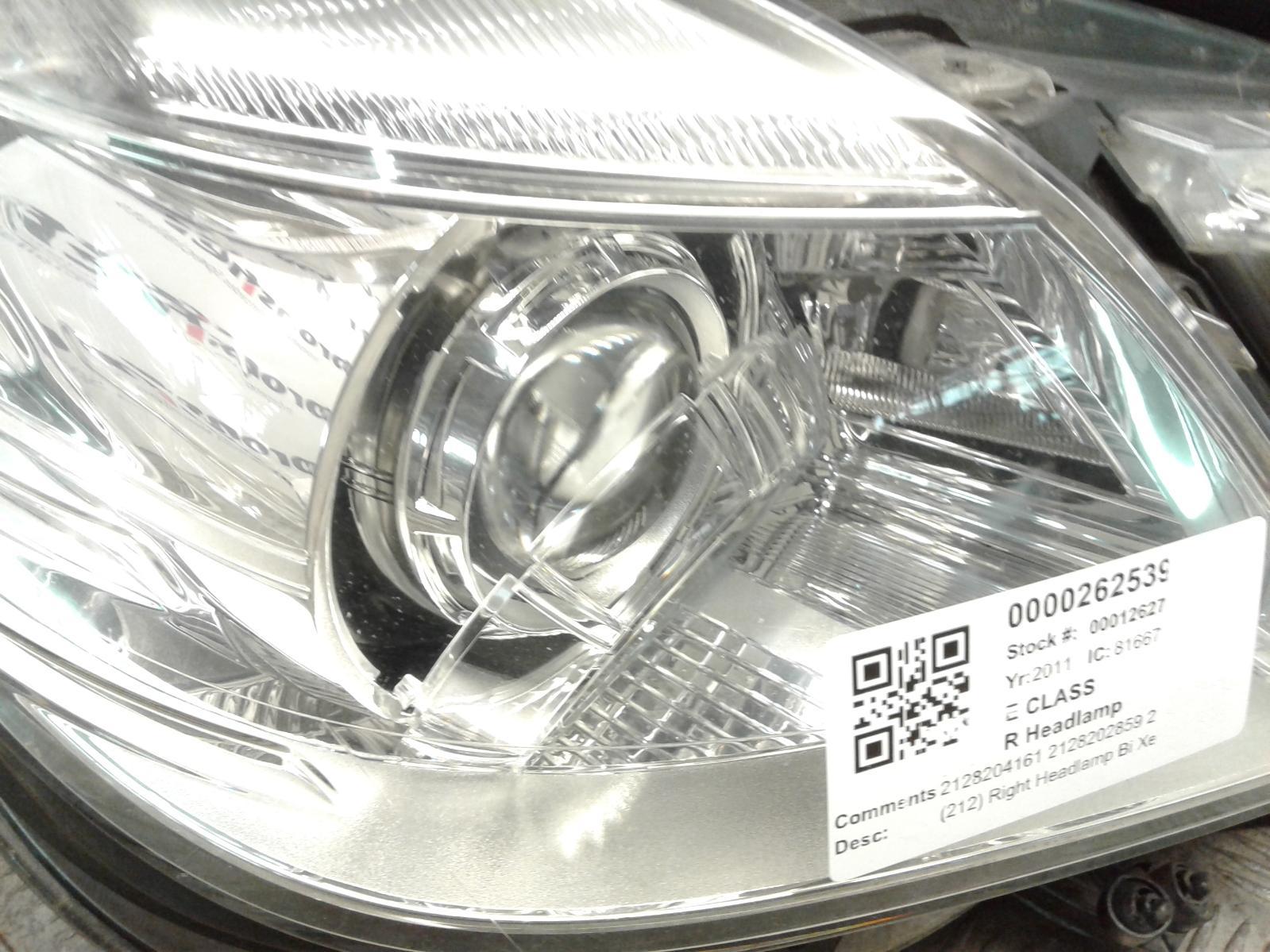 View Auto part R Headlamp Mercedes E Class 2011