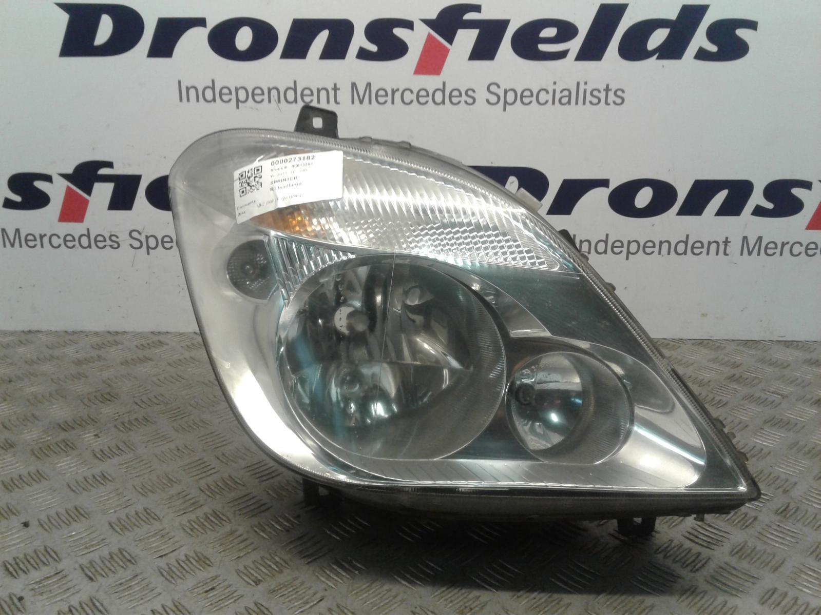 View Auto part R Headlamp Mercedes Sprinter 2011