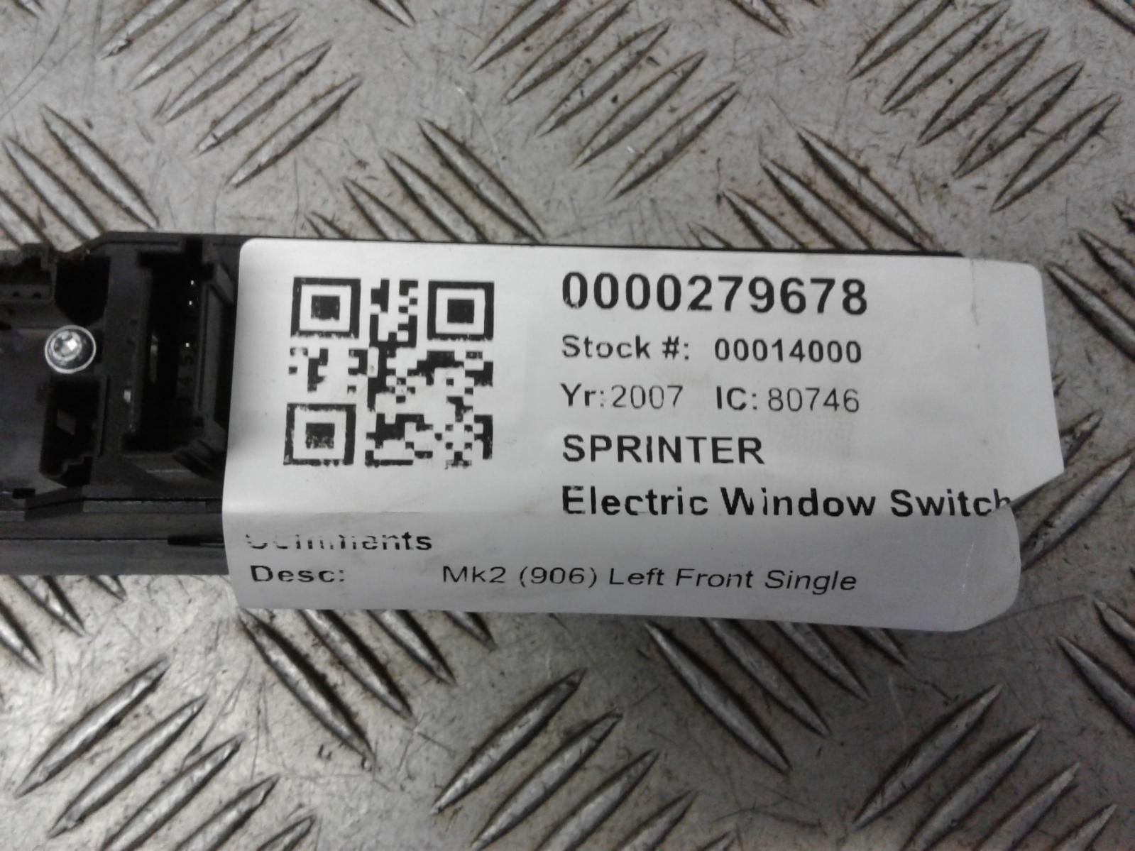 View Auto part Elect. Window Switch Mercedes Sprinter 2007