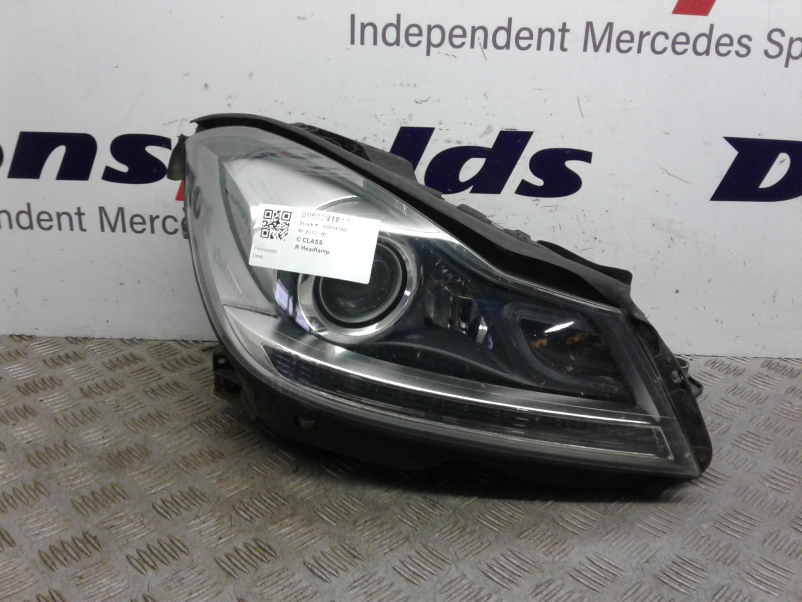 View Auto part R Headlamp Mercedes C Class 2012