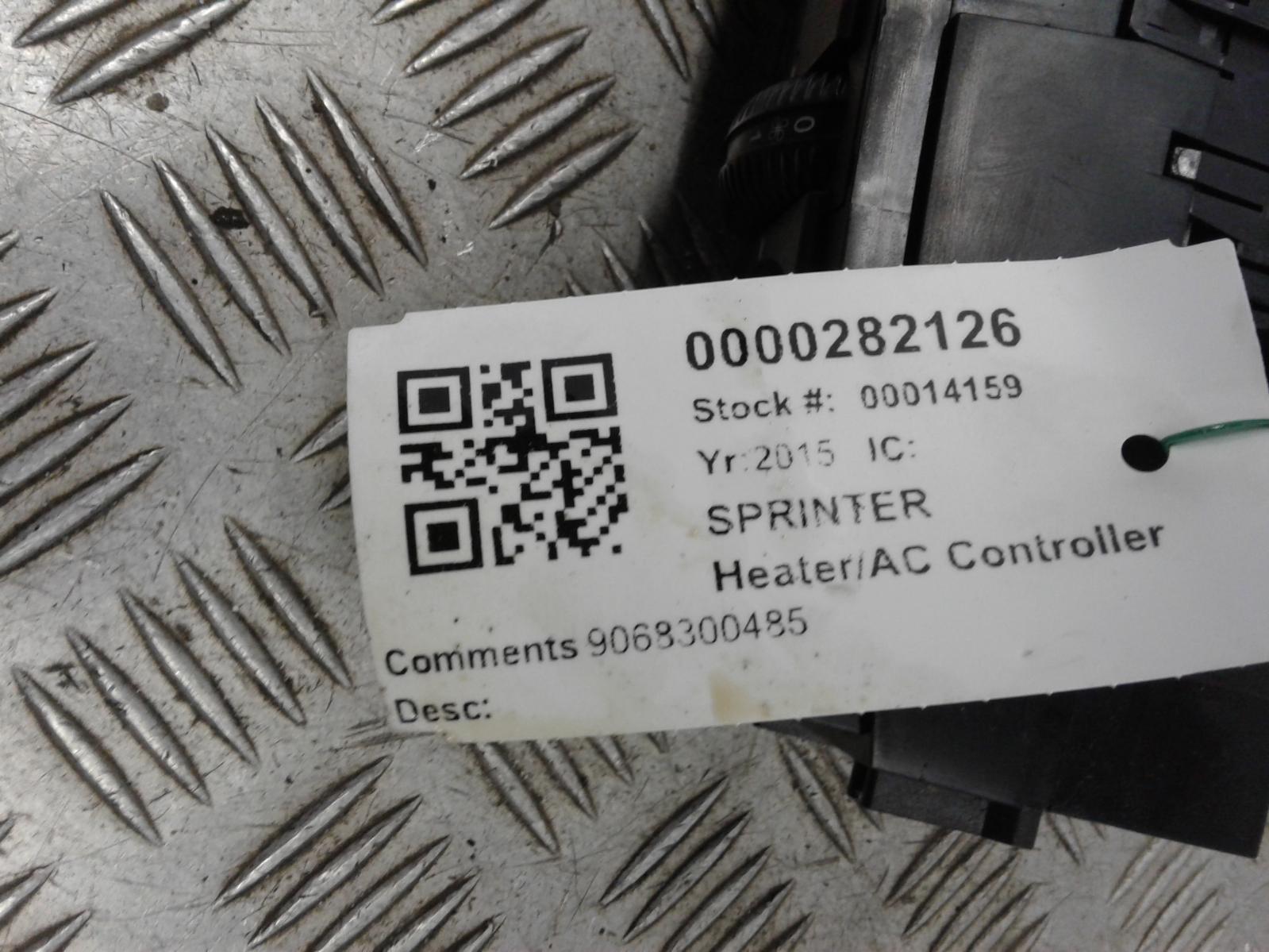 View Auto part Heater/AC Controller Mercedes Sprinter 2015