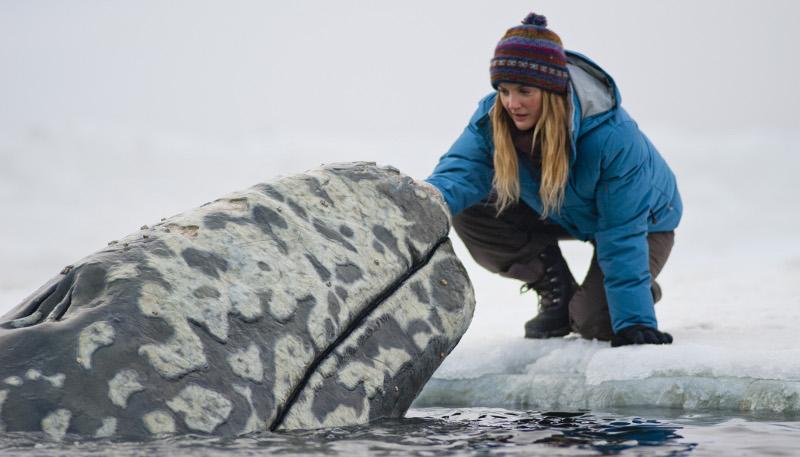 """Scena tratta dal film """"Qualcosa di Straordinario"""" - Incontro di (Drew Barrymore) con la balena"""
