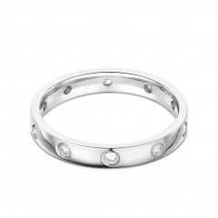Moonlight Platinum 950 Diamond Eternity Ring image 0