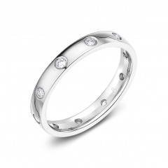Moonlight Platinum 950 Diamond Eternity Ring image 1