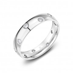 Moonlight Platinum 950 Zig Zag Diamond Eternity Ring image 1