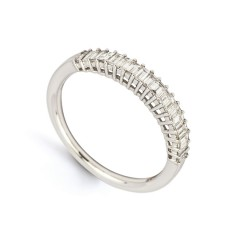 Classic 18ct White Gold Half Eternity Ring image 1