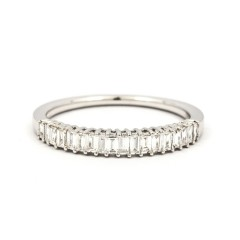 Classic 18ct White Gold Half Eternity Ring image 0